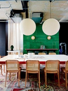 Todays´s inspiration is this newly opened boutique hotel Alex in Perth, Australia. That green color together with the wooden chairs is just super! pictur