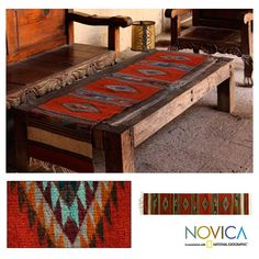 Wool 'Fiery Sky' Zapotec Table Runner (Mexico) - Overstock™ Shopping - The Best Prices on Novica Table Runners