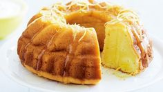 Lemon yoghurt syrup cake - Yoghurt makes delectable sweets. It's velvety texture makes cakes moist, while its tang adds to the flavour. Lemon Recipes, Sweet Recipes, Baking Recipes, Cake Recipes, Dessert Recipes, Lemon Syrup Cake, Comme Un Chef, 50th Cake, Food Tasting