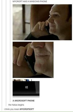 And Sherlock uses an iPhone. There are prob some great debates over this in the Holmes family. Sherlock Bbc, Sherlock Fandom, Sherlock Quotes, Jim Moriarty, Benedict Sherlock, Watson Sherlock, Supernatural Fandom, Benedict Cumberbatch Meme, Sherlock Tumblr