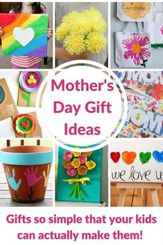 Mother's Day Gift Ideas for Kids - these are DIY crafts that your kids can actually do!!