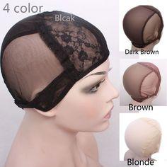 Mũ tóc giả để làm tóc giả với điều chỉnh dây đeo trên lưng dệt cap kích thước S/M/L glueless tóc giả mũ chất lượng tốt