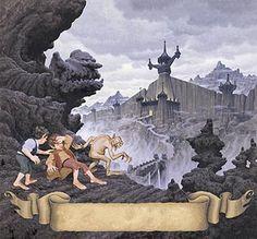 Tolkien Calendar Oct 1976 City of the Ringwraiths, Brothers Hildebrandt