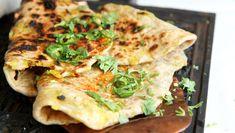 Indiskinspirerte flatbrød med potetfyll