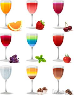 Colorful juices vector