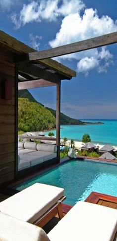 I want to be there...All inclusive private cabanas ...Antigua!!