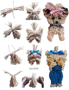 """See our site for more details on """"Yorkshire Terriers"""". It is actually an outstanding location to find out more. Dog Crafts, Cute Crafts, Yarn Crafts, Felt Crafts, Sewing Crafts, Diy And Crafts, Yarn Animals, Pom Pom Animals, Macrame Patterns"""