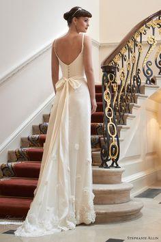 stephanie allin 2014 peony wedding dress with straps back train