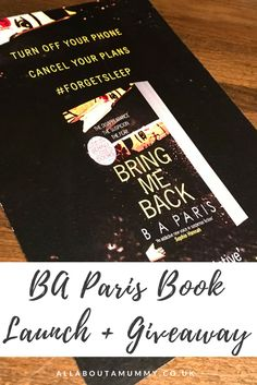 B A Paris Book Launch and Giveaway poster Review Board, Mummy Bloggers, Book Launch, Book Reviews, Book Quotes, Giveaway, My Books, About Me Blog, Product Launch