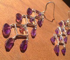 Sterling Silver Argyle Dangle Earrings with by nemesisjewelry, $60.00