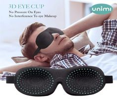 Sleep Mask for Woman and Man, Upgraded Contoured Eye Mask Eye Cover, Comfortable Sleeping Mask No Pressure On Your Eyeballs, Create Total Darkness -Black Sleeping Issues, Shift Work, Large Eyes, Sleep Mask, Eye Makeup, Unisex, 3d, Cover, Health
