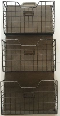 Amazon Com Rustic Style Metal Wire Basket Wall Pocket