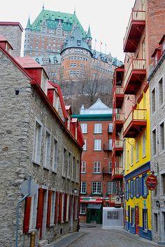 Old Quebec - brighter by jesstorr, via Flickr