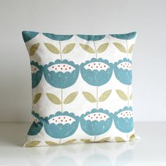 16x16 Flower Pillow Cover 16 Inch Floral Cushion by CoupleHome, $12.50