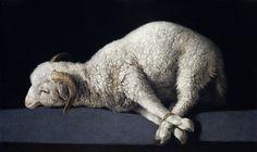 Agnus Dei (The Lamb of God), Francisco de Zurbaran Museo del Prado, Madrid Religious Paintings, Religious Art, Caravaggio, Rembrandt, Francisco Zurbaran, Museum Kunstpalast, Catholic Priest, Catholic Hymns, Catholic Quotes