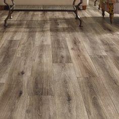 floor Trends Wide Plank - Mannington Restoration Wide Plank x x Laminate Flooring in Brushed Gray. Wide Plank Flooring, Basement Flooring, Basement Remodeling, Vinyl Flooring, Flooring Ideas, Kitchen Flooring, Gray Hardwood Floors, Basement Storage, Arquitetura