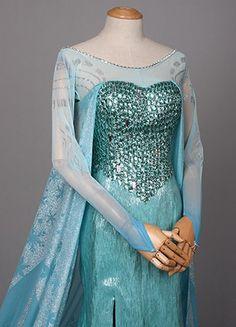 J711 Movies Frozen Snow Queen Elsa Cosplay Costume by angelssecret, $280.00