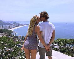 Candice Swanepoel with her boyfriend