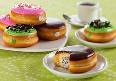 Innovative donut flavors:  Cookies N' Crème, Mint Cookies N' Crème and Confetti Icing Fusions by CSM