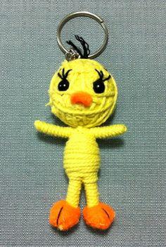 Tweety+Bird+Cartoon+String+Doll+Keychain+Keyring+de+Thaicraftvillage+sur+DaWanda.com