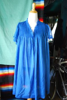 Blue nighty SIZE XL/XXL by CerealVintageThrift on Etsy, $5.00