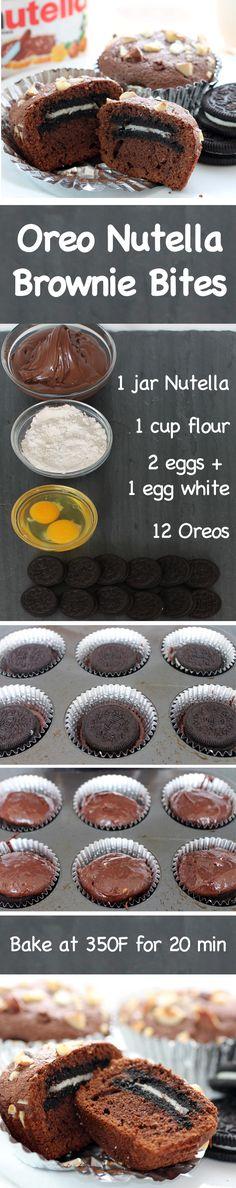 How to Make Oreo Nutella Brownie Bites - English