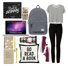 """""""Back 2 Skool"""" by lauralionels ❤ liked on Polyvore featuring Chicnova Fashion, Alexander Wang, Vans, Herschel Supply Co., Casetify and Lilly Pulitzer"""