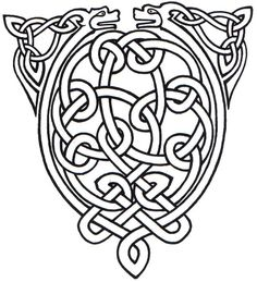Celtic Animal Knot: This is an instructable on a Celtic design for a piece of jewelry or as a mold or even as a stencil for a wood carving. Viking Designs, Celtic Designs, Celtic Symbols, Celtic Art, Celtic Knots, Celtic Dragon, Viking Tattoos, Celtic Tattoos, Celtic Animals