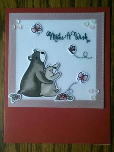 Mama elephant meets Avery Elle birthday card!