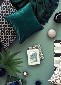 vert nuances tendances coloris décoration intérieure mode fashion nuancier coussins automne hiver textile tissu blog lifestyle
