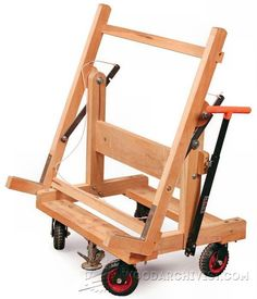 Pivoting Plywood Cart Plans - Workshop Solutions Projects, Tips and Tricks - Woodwork, Woodworking, Woodworking Plans, Woodworking Projects Woodworking Articles, Woodworking Equipment, Woodworking Skills, Woodworking Workshop, Fine Woodworking, Woodworking Projects, Woodworking Bench, Plywood Storage, Lumber Storage