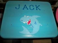 This is a child's step stool made of raw unfinished wood that I paint with acrylics and coat with Polycrylic to seal. You choose the yheme and or character you want and the name (if you want a name), and I personalize it for you! Several examples ...