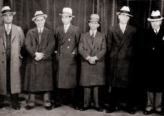 A Convention of Wall Street Barons…err, I mean Gangsters, Chicago 1932 Lucky Luciano from the left) and Meyer Lansky from the left). Real Gangster, Mafia Gangster, Meyer Lansky, Public Enemies, Chicago Outfit, Al Capone, Boardwalk Empire, Mug Shots, Gangsters