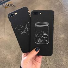 KISSCASE Planet Case For iPhone 7 7 Plus 8 Plus Cute Cartoon Black Hard PC Phone Case For iPhone 6 6s Plus X 10 5 5s SE Coque(China)