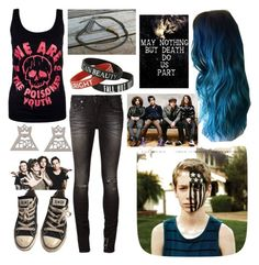 """""""BAND: Fall Out Boy"""" by jinx-the-nerd ❤ liked on Polyvore featuring R13, Converse, women's clothing, women's fashion, women, female, woman, misses and juniors"""