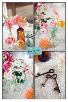 vintage keys wedding decor by mvaleria