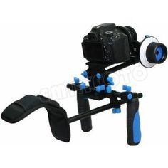 Pro Steady DSLR Complete Movie Rig with Shoulder Mount and Follow Focus System and a Matte Box Shading Card for Canon EOS Rebel T4i/T3/T3i/T...