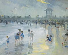 """Late Afternoon at Brighton Beach,"" Martha Walter, oil on canvas, 21 by 26"", private collection."