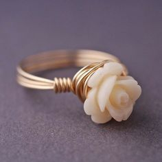 Dainty Flower Ring.