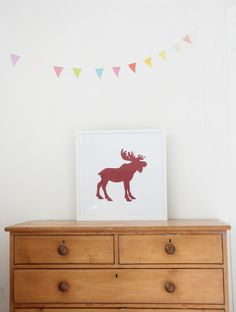 moose print via The Penny Paper Co.