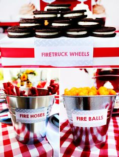 Bright & BLAZING Fireman Birthday Party