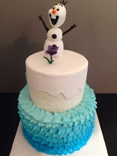 diy Frozen Birthday Cake | Frozen cake!!!