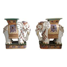 Ceramic Elephant Garden Stools   A Pair   $995 Est. Retail   $695 On  Chairish
