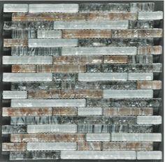 Ocean Pearl Blend -1 Crystal Glass Tile Interlock Tile. #tiles #kitchen #bathroom #flooring #quartz #intrior #interiordesign #interiordesignideas #interiorstyling