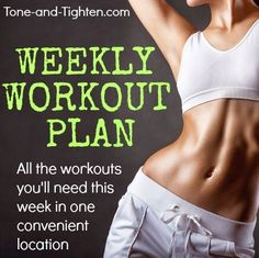 Add variety to your workouts by following these amazing workout plans from Tone-and-Tighten.com #workout #fitness