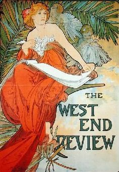 Alphonse Mucha - Poster advertising ''The West End Review''