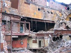 Nottingham Odeon Cinema during demolition - view of the back of the auditoria Nottingham City, Rust Belt, Auditorium, Color Theory, Old School, Abandoned, The Past, Cinema, Memories