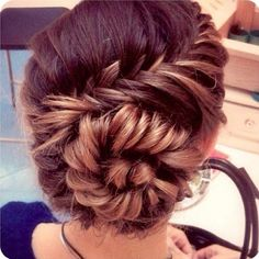Fishtail braid and bun