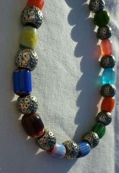 Ankle or wrist bracelet multi colored for men or women