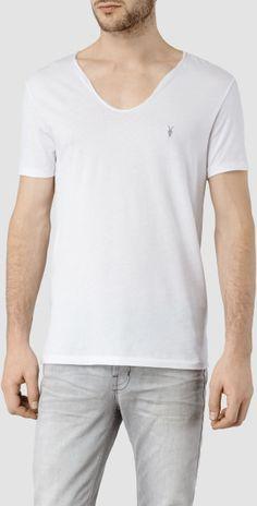Allsaints Tonic Scoop T-Shirt in White for Men (Optic White)